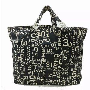 Chanel Canvas Black Tote Bag